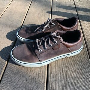 SPERRY Boys Ollie Brown Leather Sneaker
